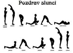 Namaste: Súrja namaskár (Pozdrav slunci) Pilates, Yoga Fitness, Health Fitness, Hand Reflexology, Dance Tips, Learn Yoga, Yoga Routine, Yoga For Beginners, Easy Workouts