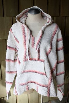 Pink Stripe Baja Hoodie, $13.