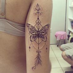 Image result for arrow butterfly tattoo