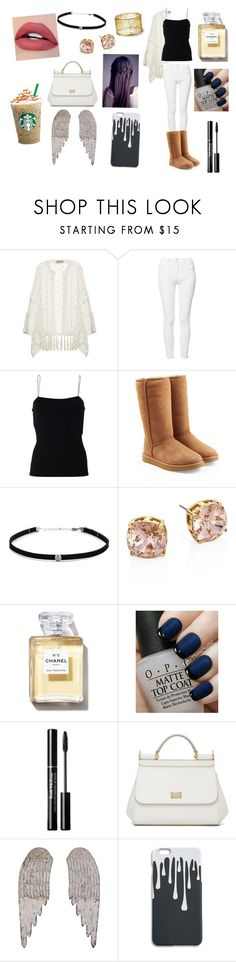 """""""Just Another Day... :)"""" by moonlightbaexo ❤ liked on Polyvore featuring ADRIANA DEGREAS, Mother, T By Alexander Wang, UGG, Carbon & Hyde, Tory Burch, OPI, Dolce&Gabbana and Home Decorators Collection"""