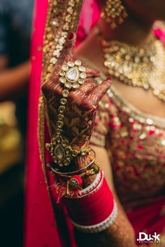 Priyanca + Atishay | Indian Wedding - Hand Jewellery and Bangles | Think Shaadi