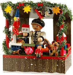 """Rothenburger Weihnachtswerkstatt """"Weihnachtsmarktstand mit Spielwarenhändler"""""""