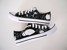 Studio Ghibli hand painted shoes series / Ghibli characters shoes / Totoro shoes / Howl's Moving Castle shoes