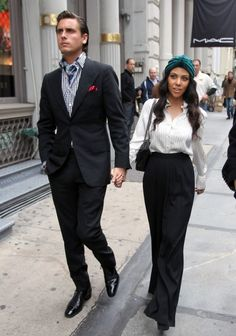 Even though their relationship is kind of off. They definitely keep it real. And real stylish. :)