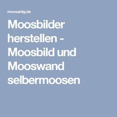 Moosbilder herstellen - Moosbild und Mooswand selbermoosen
