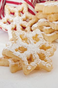 """""""My Swedish grandmother (MorMor) made rosettes every holiday season. I've finally mastered the family recipe with an old-fashioned cast-iron rosette mold. It just takes practice."""" – Tanya Bäck INGREDIENTS:Makes 3 dozen2  eggs 1  tablespoon white sugar1/4 teaspoon salt1  cup all-purpose flour1  cup milk1  teaspoon vanilla extractVegetable oilPowdered sugarINSTRUCTIONS:1. In a... Read more"""