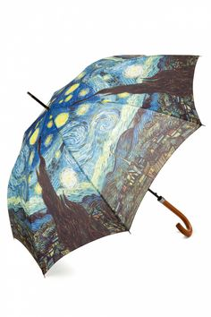 So Rainy - Starry Night Vincent van Gogh Art Umbrella ~*~ I have this design on a collapsible umbrella. This one's prettier though.