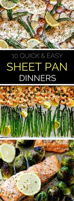 Putting a healthy dinner on the table doesn't need to be a chore! These quick and easy sheet pan dinners make weeknight meal planning a snap. // spryliving.com