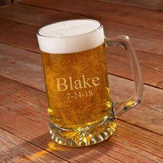 Etsy Engraved Beer Mug - Personalized 25 oz. Beer Mug - Groomsmen Beer mug - Monogrammed Beer Mug - Groom #mugs