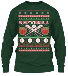 Softball Ugly Christmas Sweater-Style | Teespring