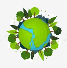 Cartoon Forest Green Forest World Earth Day Vector and PNG World Environment Day Posters, Earth Day Posters, Cartoon Cartoon, Green Environment, Environment Concept, Terra Verde, Vector Verde, Adobe Illustrator, Earth Day Images