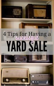 Having a successful yard sale comes down to four main points. Here's what you need to do to make sure your sale goes off without a hitch!