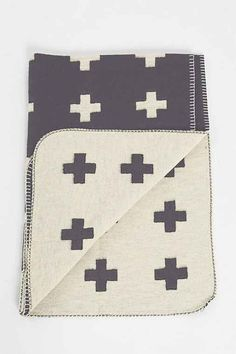 Pia Wallen Cross Throw Blanket by: Urban Outfitters @Urban Outfitters (US)