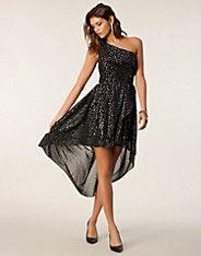 Chase Dress - NLY Trend - Sølv/sort - Festkjoler - Tøj - NELLY.COM