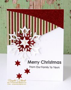 Some glittery Christmas cards.