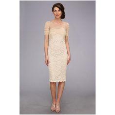 126.72$  Watch here - http://vilkf.justgood.pw/vig/item.php?t=r5yoko53328 - Badgley Mischka Stretch Lace Cocktail Dress Gold Women's Evening Dress Size 0 126.72$