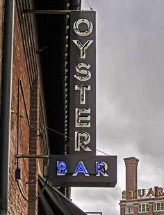 OYSTER Bar ~ Classic Neon Sign. Kansas City, Missouri