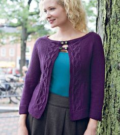 Ravelry: Ashfield Cardigan pattern by Melissa LaBarre .......?? raglan and basks could be useful guide to re-create the Humanoid knit