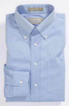 Nordstrom Smartcare™ Traditional Fit Pinpoint Dress Shirt | Nordstrom - light blue or white 16 32/33