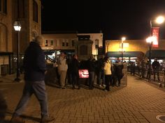 "The Fireplace was the ""hot spot"" of the night! The Lighting of the Square in Woodstock IL 2015"