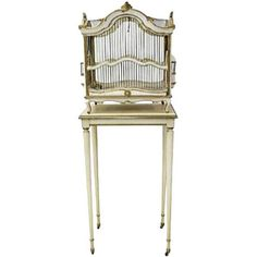 19th C. Italian Florentine Birdcage on Stand ($1,895) ❤ liked on Polyvore featuring home, home decor, curiosities, bird cage home decor, gold home decor, birdcage home decor and gold home accessories