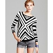 MILLY Sweater - Chevron Geo Intarsia