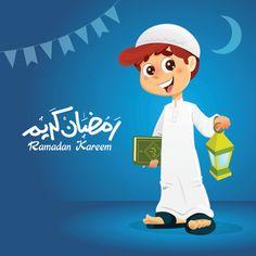 Happy Muslim Boy Holding Quran Book - Buy this stock vector and explore similar vectors at Adobe Stock Ramadan Poster, Ramadan Cards, Ramdan Kareem, Quran Book, Animated Clipart, Cartoon Boy, Cartoon Family, Islamic Cartoon, Islamic Girl