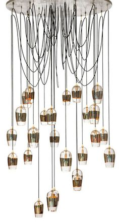 New Products - Alison Berger Glassworks - Mirrored pendant fixture   Interior Design