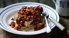 BBC Food - Recipes - Proper baked beans with soda bread toast