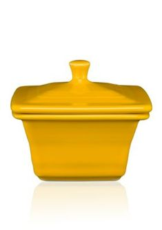 Fiesta® Dinnerware Square Covered Box in Daffodil. Created exclusively for Belk Department Stores by the Homer Laughlin China Company Dish Storage, Fiesta Colors, Butterfly Kids, Insulated Lunch Box, Ball Jars, Homer Laughlin, Picnic Time, Dining Decor, Box Signs