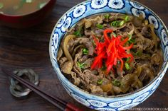 Make delicious Yoshinoya Beef Bowl at home! Enjoy the savory and juicy sliced beef over steamed rice with this quick and easy recipe.