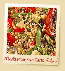 Mediterranean Farro Salad | Make with Nature's Earthly Choice Premium Farro! | www.earthlychoice.com | #Farro #Recipes #EarthlyChoice