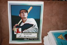 Ted Williams The Splendid Splinter 16x20 etopps canvas print! Search my store to own it or email me to buy it now. caesarandcleopatra@yahoo.com