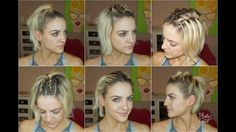 6 Short Hairstyles for the Gym - YouTube
