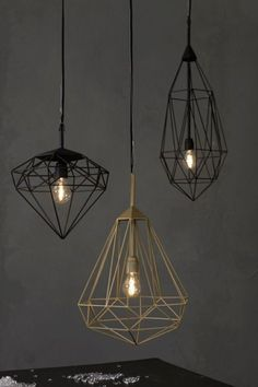 diamond shape of pendant lamp