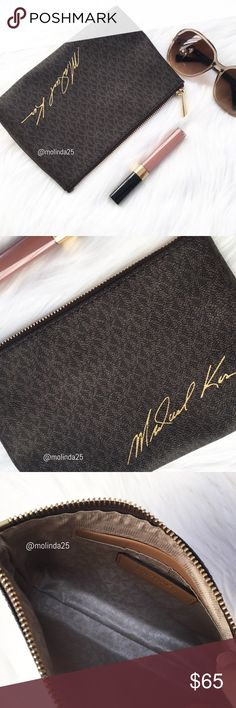 NWOT, MICHAEL Michael Kors make up pouch 💝100% Authentic MICHAEL Michael Kors make up pouch, NWOT 🔹 One slip pocket inside. Comes with MK shopping bag. 🔹 Please no trades or PP. MICHAEL Michael Kors Bags Cosmetic Bags & Cases