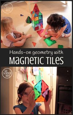 Hands-on math with Magnetic Tiles through play – Go Science Kids Kids Wedding Activities, Thanksgiving Activities For Kids, Activities For Girls, Outdoor Activities For Kids, Cool Science Experiments, Science For Kids, Science Activities, Learning Through Play, Fun Learning
