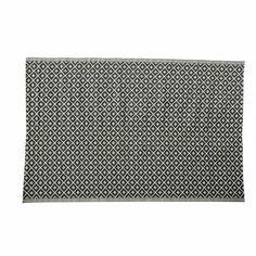 Tapis d'extérieur en polypropylène noir et blanc 180 x 270 cm KAMARI