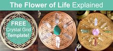 Flower of Life Crystal Grid meaning and uses: What is the meaning of the Flower of Life symbol and where does it come from? Learn why it is so popular for Crystal Grids. Download a free printable Flower Of Life Template and start creating your own Crystal Grids today!...