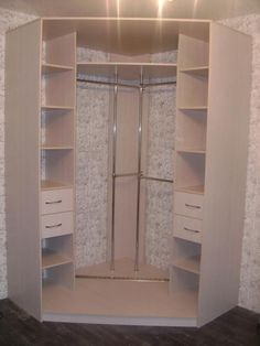 Corner wardrobe closet ideas – Decor Units - All About Corner Wardrobe Closet, Wardrobe Design Bedroom, Bedroom Wardrobe, Bedroom Decor, Bedroom Ideas, Diy Wardrobe, Closet Layout, Bedroom Cupboards, Closet Designs