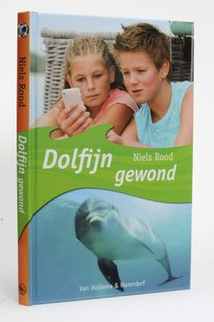 Coverdesign for 'Dolfijn gewond'. Youth novel by Niels Rood