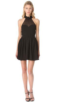 Blaque label Halter Top Dress in Black | Lyst