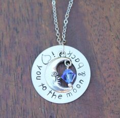 Hand Stamped I love you to the moon and back by ScentandSpirit, $21.00 Donated to the FFCS for the raffle! https://www.etsy.com/shop/ScentandSpirit