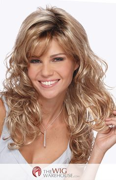 The Becky wig by Estetica offers beautiful waves of layered curls that provide you with a decidedly feminine look that you'll adore. The long bangs can be easily styled to either side, while the long
