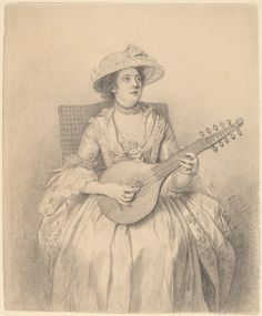 An Elegant Lady Playing a Cittern, c. 1770, National Gallery of Art, William B. O'Neal Fund 2011.113.1