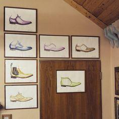 """""""Nová výzdoba v naší dílně, ručně malované #boty"""""""