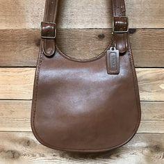 Early Vintage Bonnie Cashin Original Coach Saddle Bag Vtg Brown Leather  Hobo Flap Shoulder Purse Made in New York City USA f3641e648b