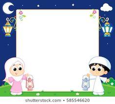 School Board Decoration, Ramdan Kareem, Eid Stickers, Islamic Cartoon, Emoji Images, Ramadan Decorations, Borders For Paper, Pencil And Paper, Cartoon Kids