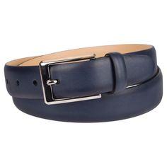 Men's 32mm Feather Edge Production Belt - Merona - Navy M, Size: M (32-36), Blue