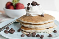The best recipe I've found so far for Chocolate Chip Pancakes Cinnamon French Toast Bake, Quick Cinnamon Rolls, Coconut French Toast, Chocolate Chip Pancakes, Chocolate Chip Recipes, Chocolate Chips, White Chocolate, Raspberry Coffee Cakes, Raspberry Pancakes